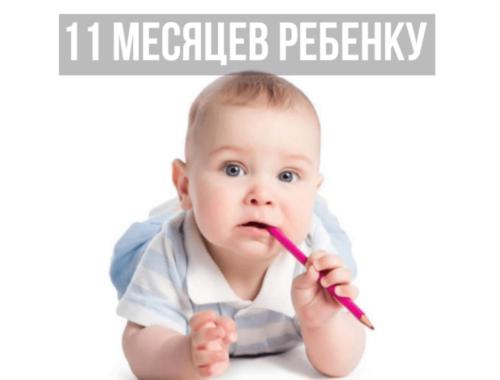 11 месяцев ребенку развитие что должен уметь