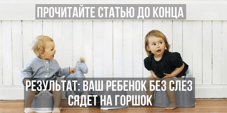 Как правильно приучить ребенка к горшку