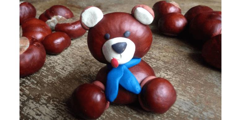 Поделки для детей из каштанов и желудей