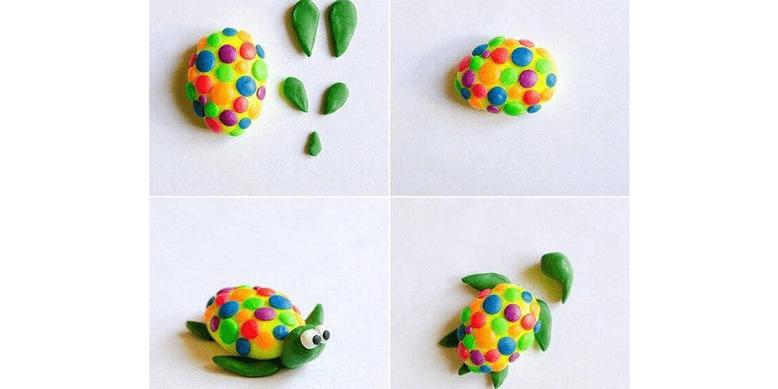 Поделки из пластилина для детей осень