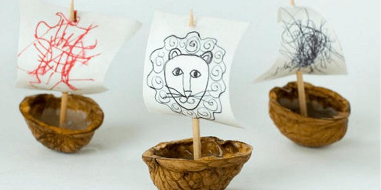 Поделки из скорлупы грецкого ореха для детей