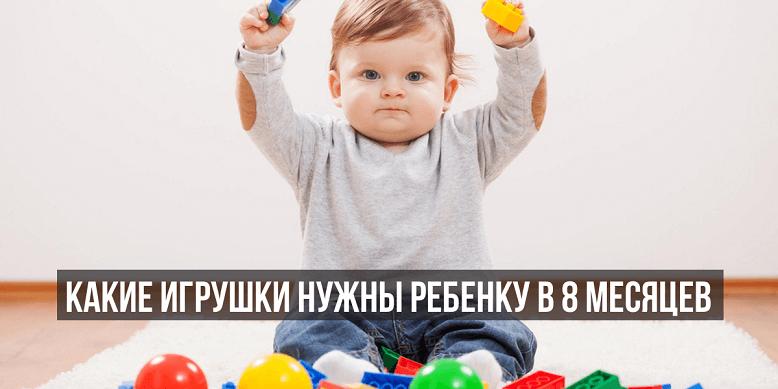 Развивающие игрушки для ребенка 8 месяцев